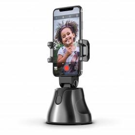 DrPhone GB1 Smartphone Gimbal 360 ° Graden – Gezichtsfoto Volgmodus - voor o.a Vlog Live & Video opnames - Zwart
