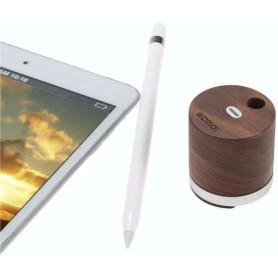 DrPhone SMD Houten Mini Charger Dock Standhouder voor Apple Pencil – Walnoot