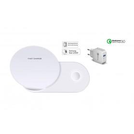 DrPhone 2 in 1 Echo Pro - Fast Charge + Qualcomm 3.0 adapter + USB-C Kabel 2 meter met beveiliging - Charging Dock