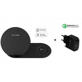 DrPhone 2 in 1 - Echo Pro - 15W Fast Charge + Qualcomm 3.0 adapter + USB-C Kabel 1.5 meter met beveiliging – Charging