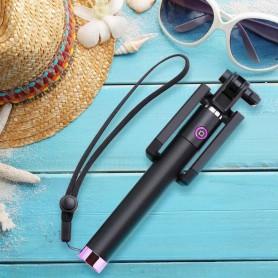 DrPhone PiX Pro® Wireless Selfie Stick - Bluetooth 3.0 + Polsband - Universeel - Geschikt voor Smartphones - Zwart