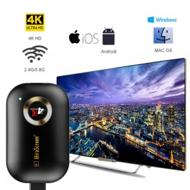 DrPhone - WDR2 - HDMI Wireless Display Receiver- 5G WiFi 4K UHD Mirroring Adapter Dongle - Airplay/ Miracast /DLNA