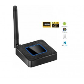 DrPhone WDR1® - Wireless Display Receiver 1080P Streamen - 2.4G + 5G- Miracast Pro voor Android / IOS - Stream Draadloos