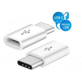 DrPhone OTG3® Micro USB-adapter naar Female USB-C - Converter OTG - Type-C - Verloop Adapter Micro USB - Wit