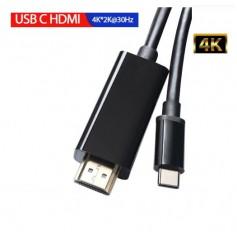 DrPhone USB 3.1 Type C naar HDMI Kabel - Adapter - Converter HD 1080P 4k2k HDTV Video Kabel - 1.8m