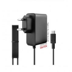 DrPhone Pretador® Nintendo Switch Stopcontact Lader + Kabel Plug AC Adapter - Voeding + Oplader Voor Switch