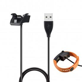 DrPhone Huawei Band 2, 3, 4 en 5 Pro Oplader - Oplaad dock inclusief kabel - Zwart
