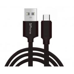 DrPhone HybridX - 2 Meter Kabel - Data + Opladen - Nintendo Switch Lite USB-C / Type-C Oplaadkabel - Zwart