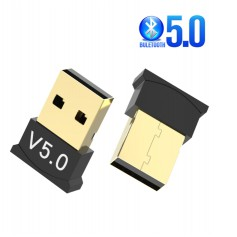 DrPhone B5 - Bluetooth 5.0 USB Adapter Dongle - 20 Meter Bereik - Stabielere verbinding - Zwart