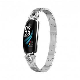 DrPhone Ladies Deluxe® - Smartwatch Met Notificaties - Hartslagmeter & Stappenteller - Activity Tracker Voor Vrouwen - Zilver