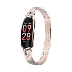 DrPhone Ladies Deluxe® - Smartwatch Met Notificaties - Hartslagmeter & Stappenteller - Activity Tracker Voor Vrouwen - RoseGold