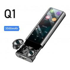 DrPhone Q1 Smart Earbuds – Bluetooth Headsets – MP3 – Powerbank 3000mAh – Multifunctioneel - Zwart