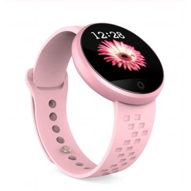 DrPhone OVA Series - Aluminium Metalen + Siliconen Smartwatch voor Vrouwen - Menstruatie / Stappen / Notificaties - Roze