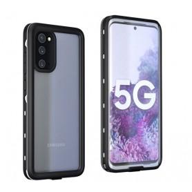 DrPhone Samsung S20 Waterdichte case – IP68 Gecertificeerd – Full Body – Beschermhoes – Transparant