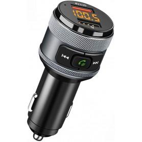 DrPhone BC12 – FM Transmitter – Bluetooth – Qualcomm 3.0 Snellader – Dual USB – Zwart
