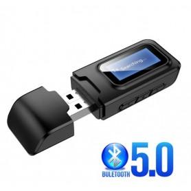 DrPhone X8 Draadloze 3 in 1 RX-TX- Bluetooth 5.0-Hifi -Audio-Ontvanger -Zender met Display – 3.5mm AUX-aansluiting USB-adapter