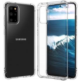 DrPhone Samsung S20 TPU Hoesje - Siliconen Bumper Case met Verstevigde randen – transparant