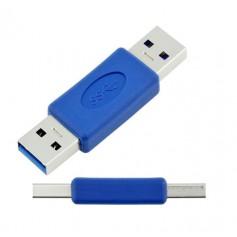 DrPhone High-Speed USB 3.0 Type-A mannelijk naar mannelijk Adapter – Verlengstuk – Converter – Blauw