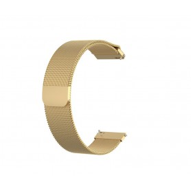 DrPhone Milanese Horlogeband Garmin Venu – 20mm – RVS – Zwart