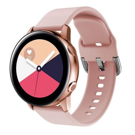 DrPhone Samsung Galaxy S3 / Watch 46mm Horlogeband – Siliconen band – Metalen gesp – 22mm - Roze