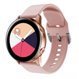 DrPhone Samsung Galaxy Gear Active 2 Horlogeband – Siliconen band – Metalen gesp – Unisex – Roze
