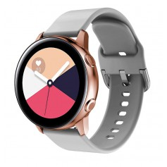 DrPhone Samsung Galaxy Gear Active 2 Horlogeband – Siliconen band – Metalen gesp – Unisex – Grijs