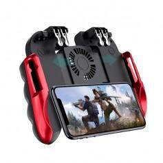 DrPhone GX5 GameController Voor Smartphones – Joystick Trigger – Ventilatie Koeling - Fortnite – PUBG – Call Of Duty - Rood