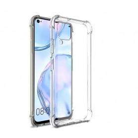 DrPhone P40 Lite / Nova 6 SE TPU Hoesje - Siliconen Bumper Case met Verstevigde randen – transparant