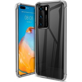 DrPhone Huawei P40 PRO TPU Hoesje - Siliconen Bumper Case met Verstevigde randen – transparant