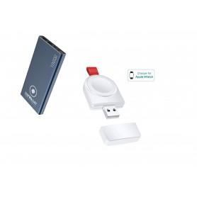DrPhone FUSION® - Draadloze iWatch lader - Apple Watch oplader + LUXWALLET Powerbank 10.000 Mah - Wireless Travel Kit