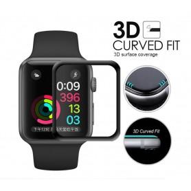 DrPhone Apple Watch 4 / 5 - 44mm Glas - 0.2mm Glazen screenprotector - Volledige Bescherming - Tempered glass - Zwart