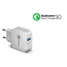 DrPhone QuickCharge - Snellader - Thuislader - Oplader Met Snel Opladen Functie - 9V 2A MAX 18W Fast Charging - Wit