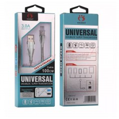 OLESiT 1 Meter Lightning Kabel Metalen Zinc Aluminium 3.0A High Speed USB Oplaadkabel UNS-K142 - 30% sneller opladen