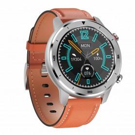 DrPhone Model Y - Smartwatch met Sportmodus - Stappenteller - Waterdichte Horloge - Sporthorloge - Zilver