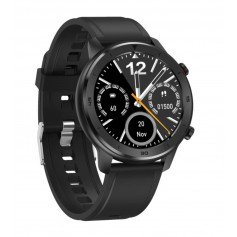 DrPhone Model Y - Smartwatch met Sportmodus - Stappenteller - Waterdichte Horloge - Sporthorloge - Zwart