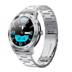 DrPhone Model X - Bluetooth Smartwatch Met Belfunctie - Microfoon - Stappenteller - Horloge - Sporthorloge - Zilver