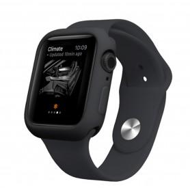 Drphone Apple Watch 1/2/3 44mm Case – Kras en Schokbestendig TPU - Zwart
