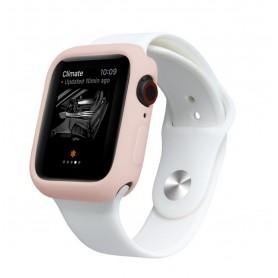 Drphone Apple Watch 1/2/3 44mm Case – Kras en Schokbestendig TPU - Roze