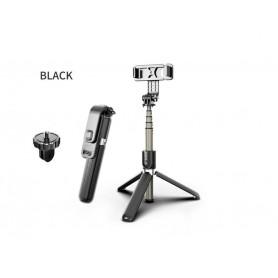 DrPhone Z3 ALL-IN Bluetooth Draadloze Selfie Stick + Tripod + Statiefcamera houder + Afstandsbediening - Zwart