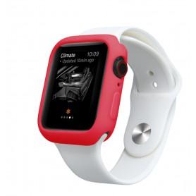 Drphone Apple Watch 1/2/3 38mm Case – Kras en Schokbestendig TPU - Rood