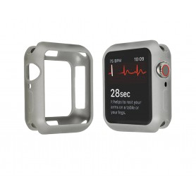 Drphone Apple Watch 1/2/3 38mm Case – Kras en Schokbestendig TPU - Grijs
