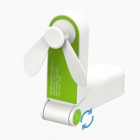 DrPhone HiSpeed Bureau Ventilator - Krachtige Mini Pocket Ventilator met 2 Standen + Micro USB Kabel - Wit
