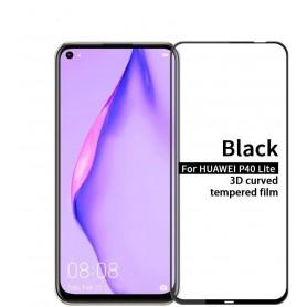 DrPhone P40 Lite Tempered Glass 3D - Schermbeschermer - Gehard Glas Folie - Zwart