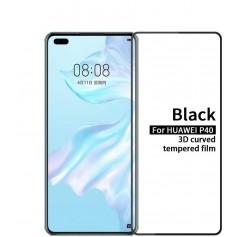 DrPhone P40 Tempered Glass 3D - Schermbeschermer - Gehard Glas Folie - Zwart
