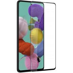 DrPhone Samsung Galaxy A51 Tempered Glas 3D Volledige Glazen Dekking Full coverage 9H - Zwart