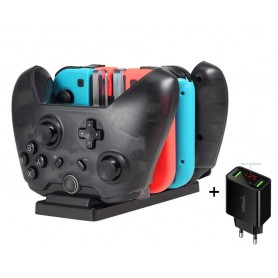 DrPhone N-Swith 6 in 1 laadstation Laadstation - Pro Controllers & Joy-Cons Dock - Oplader - Houder + DrPhone Thuislader