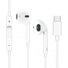 DrPhone HiFi1 - USB-C Oordopjes – Microfoon – Oordoppen met Volume Controle ( Geen DAC Ondersteuning) – Wit