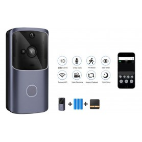 DrPhone® HawkX2 - Video Deurbel Cloud – Wireless Camera - Intercom - Wifi + 4G - Inclusief App + 3 Batterijen + Lader