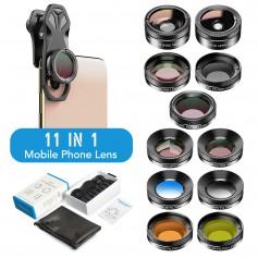 DrPhone APEX11 PRO - 11 in 1 Telefoon Camera Lenzen – Professioneel Fotografie – HD Lenzen - Macro / StarFilter / Filters