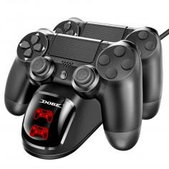 DrPhone DCD PS4 / PS4 Slim / PS4 Pro Dual Controller Laadstation - Dubbele Fast Oplader met LED-oplaadindicator